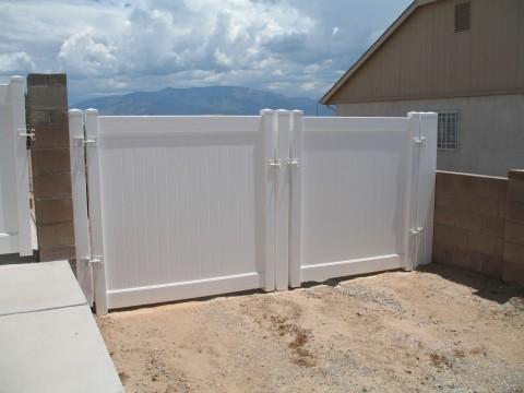 White Double Gates